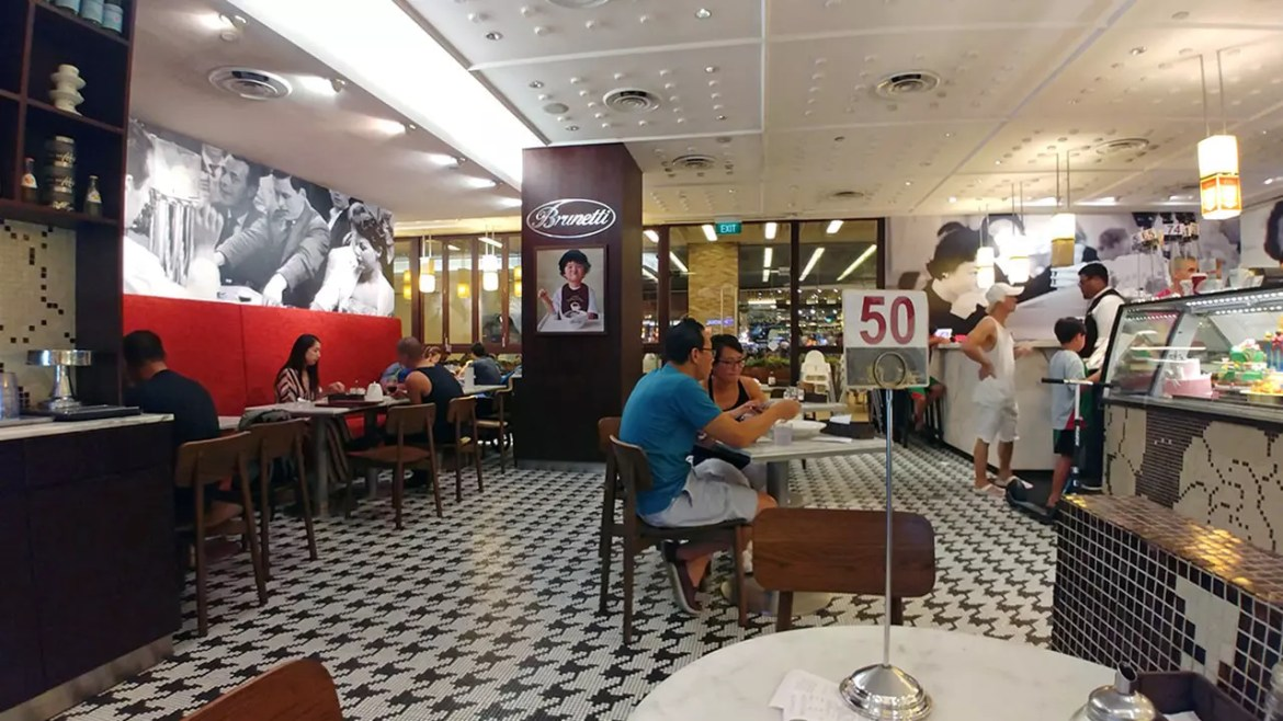 Brunetti Tanglin Mall - Cafe Overview