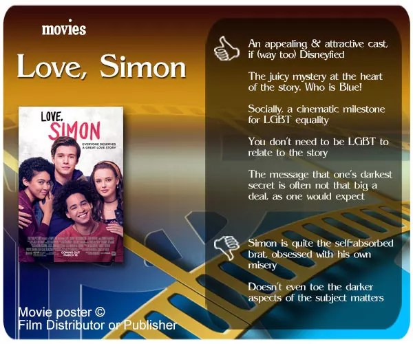 Love, Simon review - 5 thumbs up and 2 thumbs down.