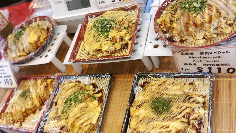 Hiroshima Style Okonomiyaki at Takashimaya Food Lovers' Fiesta 2018.
