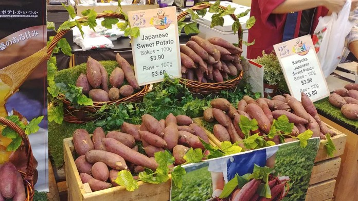 Japanese Sweet Potato on sale at Takashimaya Food Lovers' Fiesta 2018.