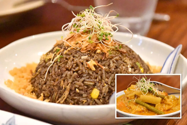 Indocafé - The White House Buah Keluak Fried Rice and Sayur Lodeh.