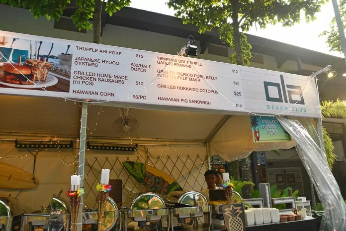 Ola Beach Club Stall at Sentosa GrillFest 2018.