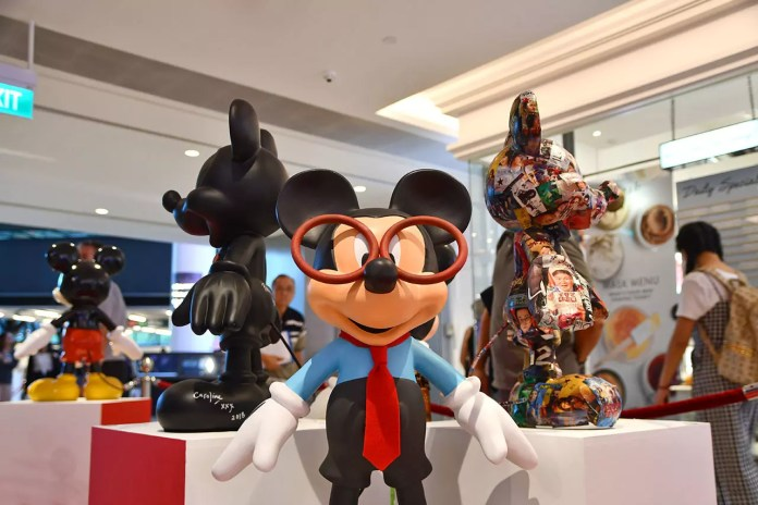 Studious Mickey Mouse at Mickey Go Local Campaign @ Raffles City 2018.