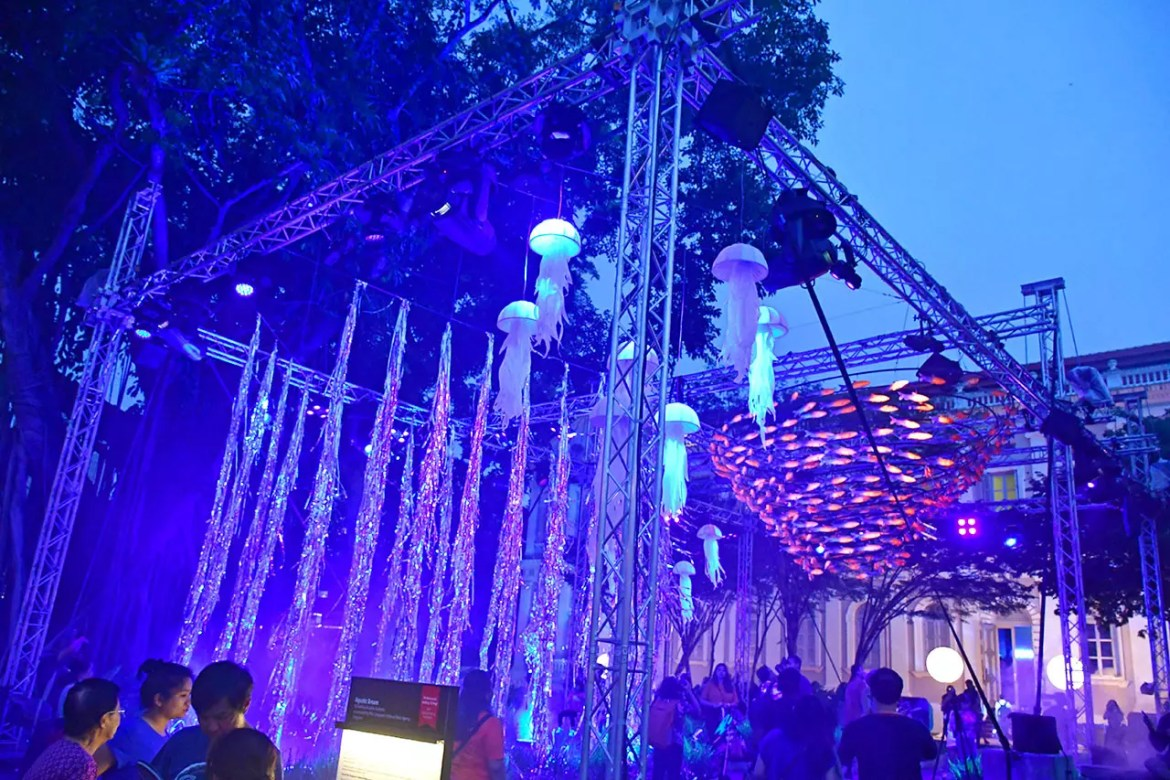 Aquatic Dream By Auditoire & Lekker Architects at Singapore Night Festival 2018.