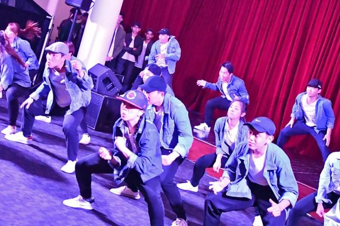 SMU Funk Movement Performance at Singapore Art Museum.