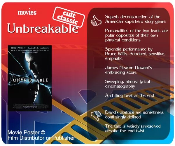 Unbreakable review - 6 thumbs up and 2 thumbs down.