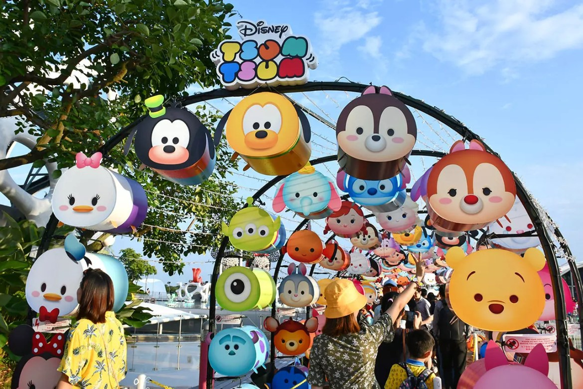 Disney Tsum Tsum characters at Vivocity, Singapore
