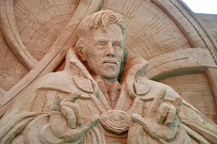 Doctor Strange Sand Sculpture.