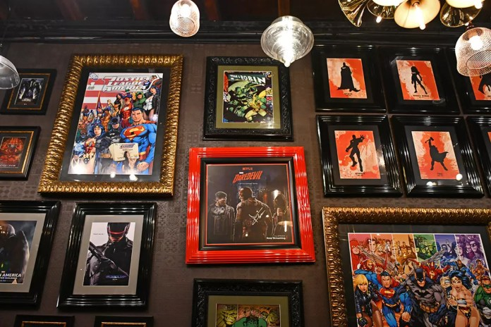 Hungry Heroes Lower Level Wall Decorations