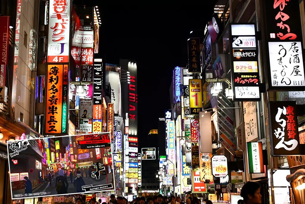 Persona 5 Tokyo Attractions | Shinjuku Red Light District