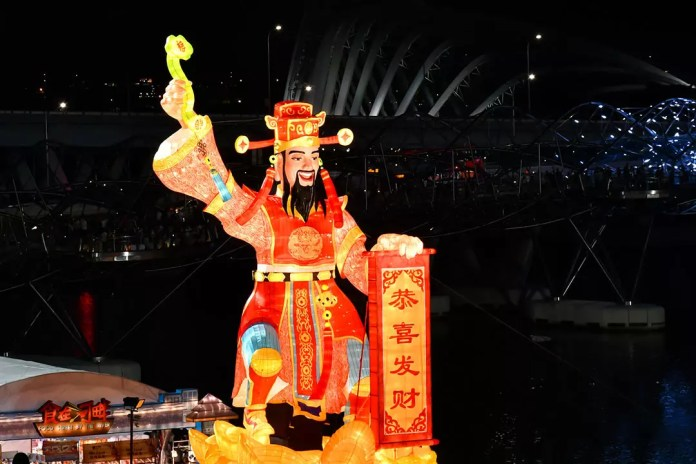 God of Fortune to welcome Chinese New Year 2019.