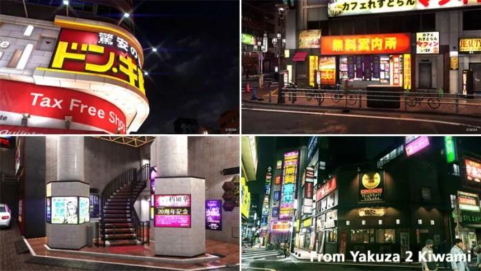 Kamurocho Landmarks.