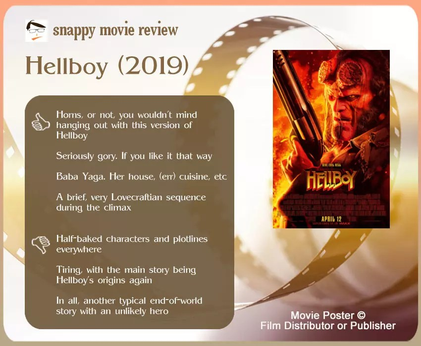 Hellboy (2019) Movie Review: 4 thumbs-up and 3 thumbs-down.