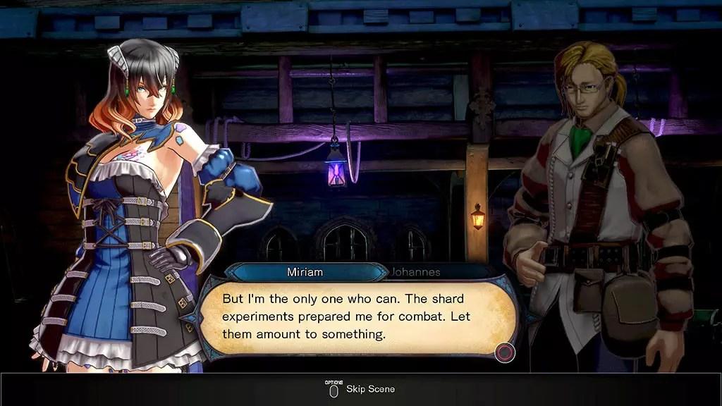 Miriam and Johannes dialogue.