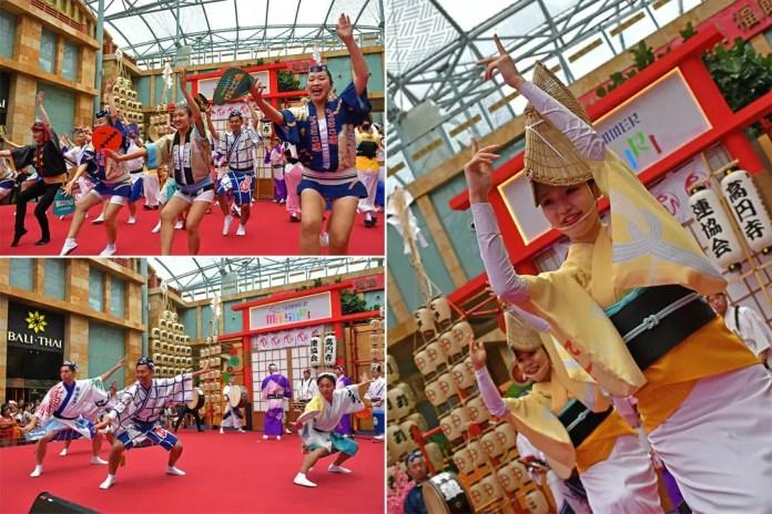 Awa Odori Performance in Singapore.
