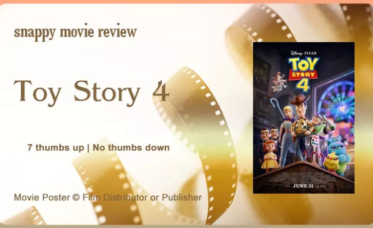 Toy Story 4 Movie Review.