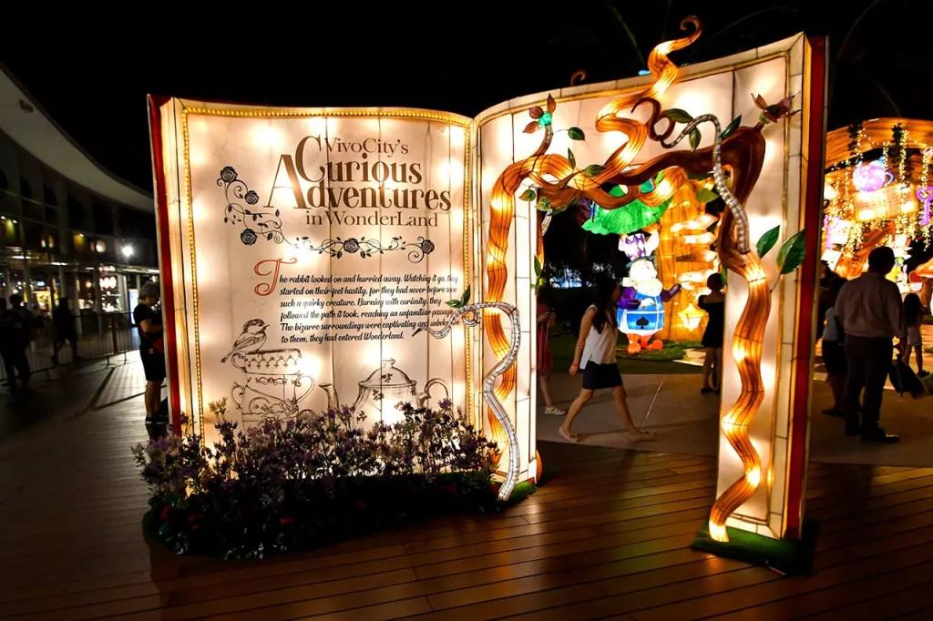 Alice in Wonderland Lantern Display at Vivocity's Curious Adventures in Wonderland 2019.