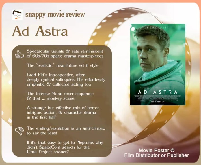 Ad Astra Movie Review: 5 thumbs-up and 2 thumbs-down