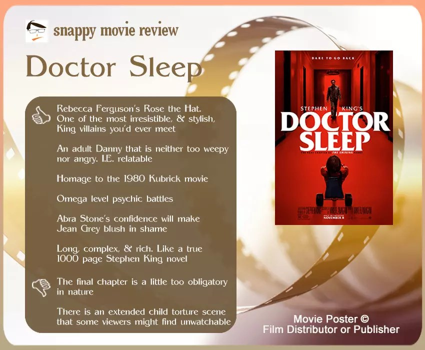 Doctor Sleep Movie Review: 6 thumbs-up and 2 thumbs-down