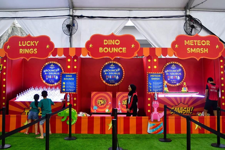 VivoCity Bounce-a-Saurus Fiesta Carnival Games.