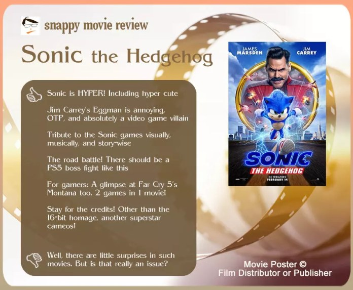 Sonic the Hedgehog Movie Review: 6 thumbs-up and 1 thumbs-down.