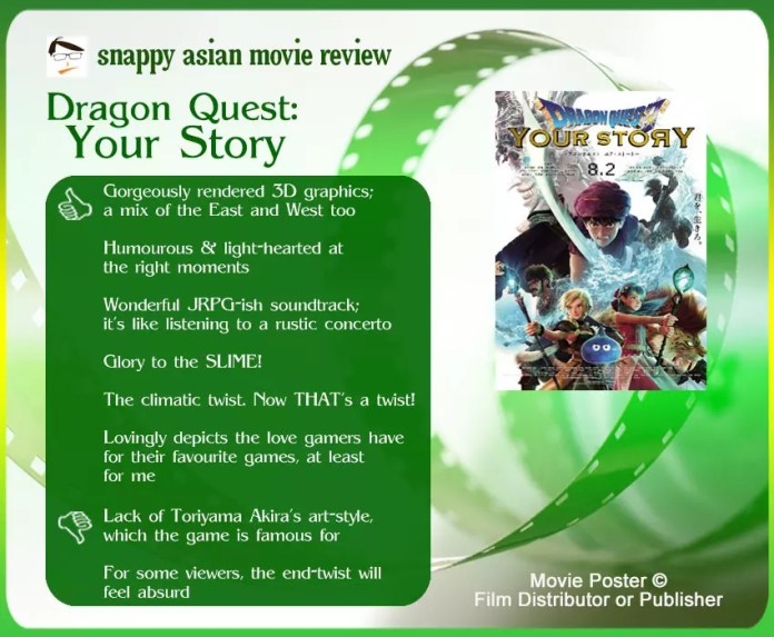 Dragon Quest: Your Story Review: 6 thumbs-up and 2 thumbs-down.