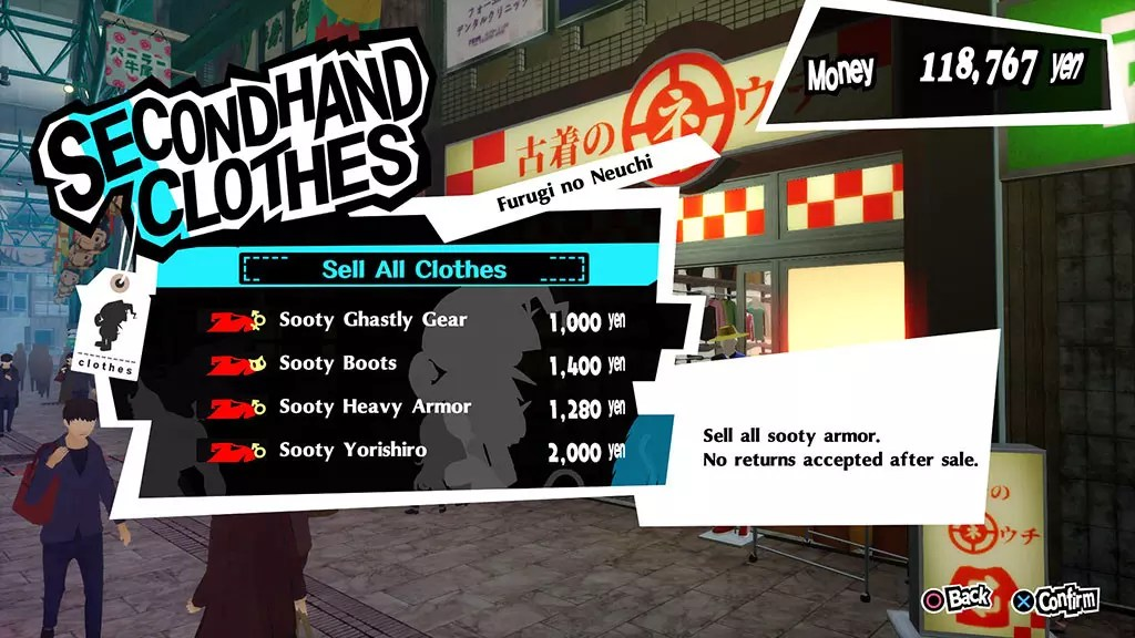 Persona 5 Royal Kichijoji Second Hand Clothes Shop
