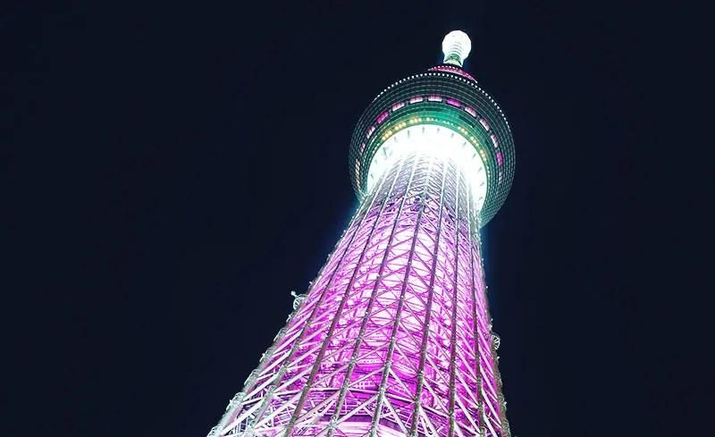 Tokyo SkyTree Purple Illumination.