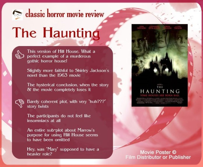 The Haunting (1999) Review: 3 thumbs-up and 4 thumbs-down.