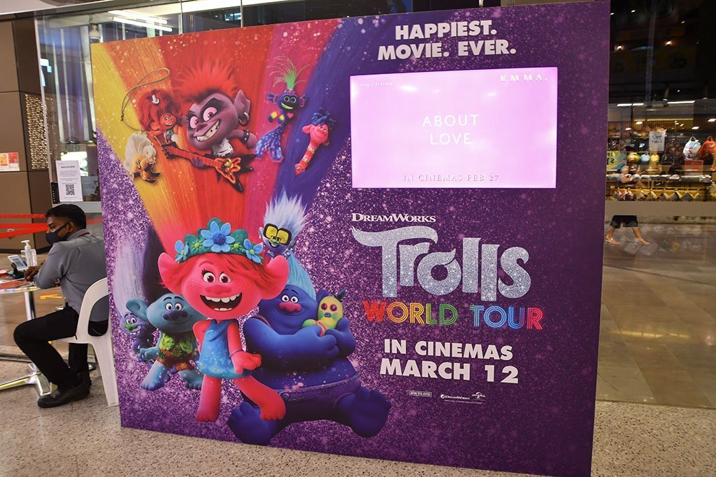 Trolls World Tour Promotion at Orchard Cineleisure, Singapore.