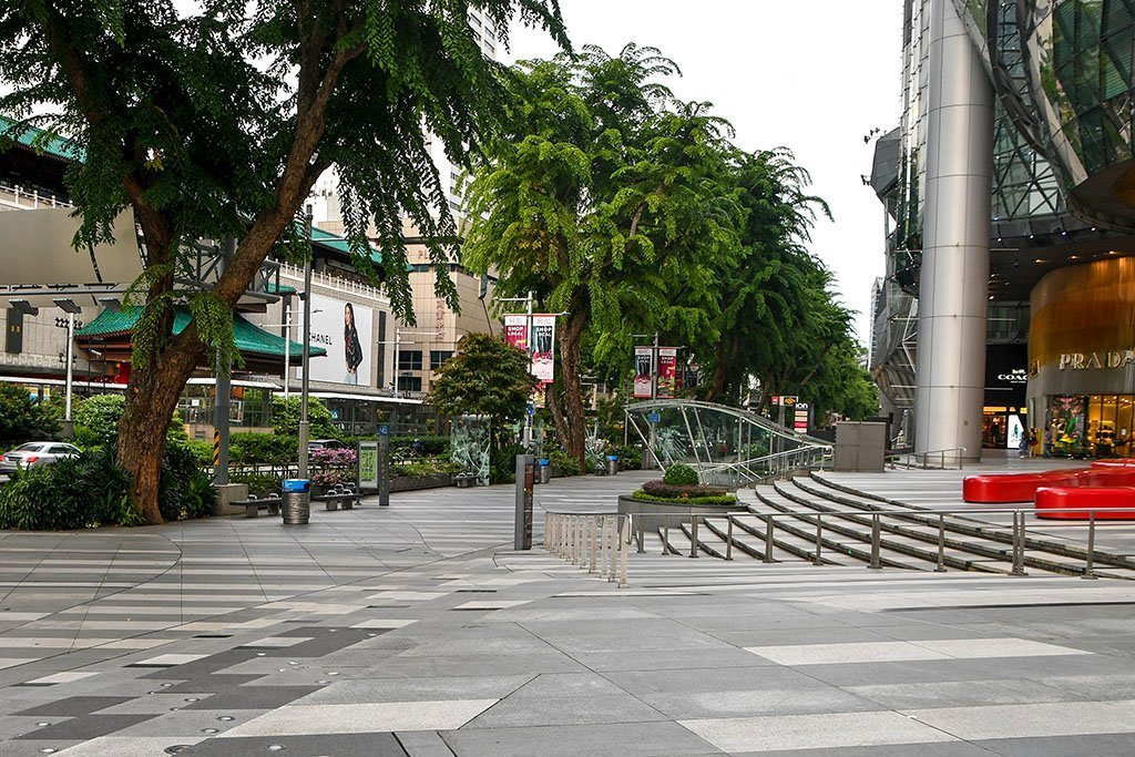 Orchard Road During Post Circuit-Breaker Phase Two Reopening.
