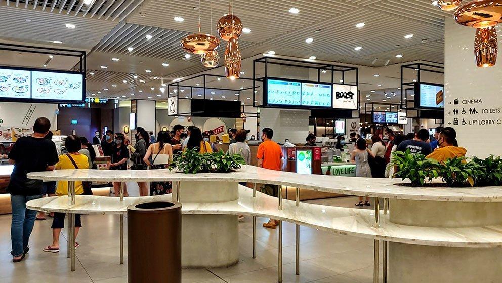 Jewel Changi Airport Basement Food Stalls
