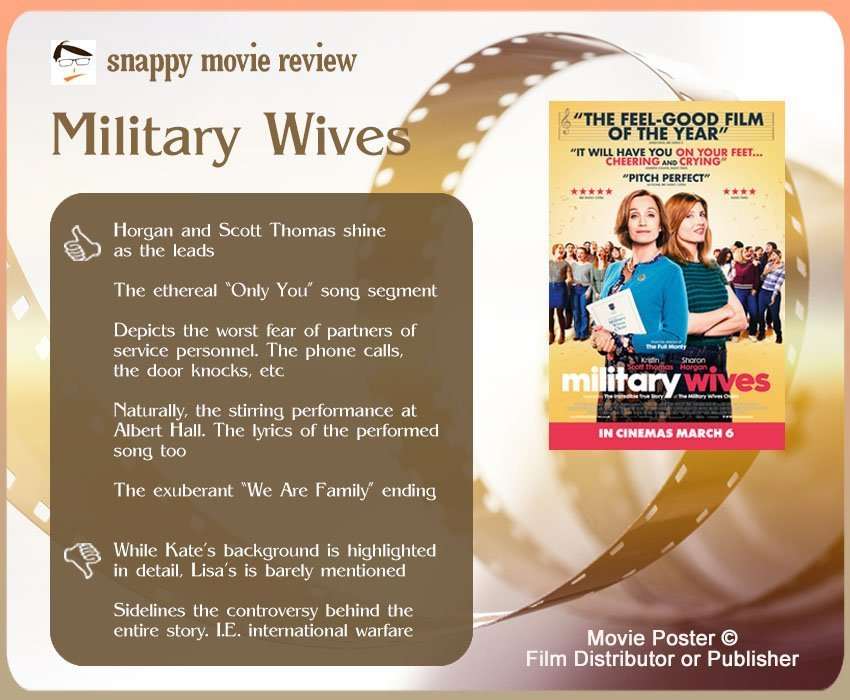 Military Wives Review: 5 thumbs-up and 2 thumbs-down.
