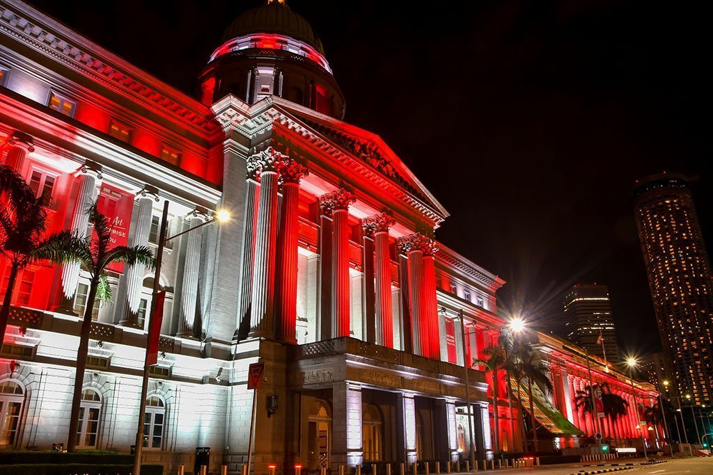 National Gallery Singapore Night Picture.