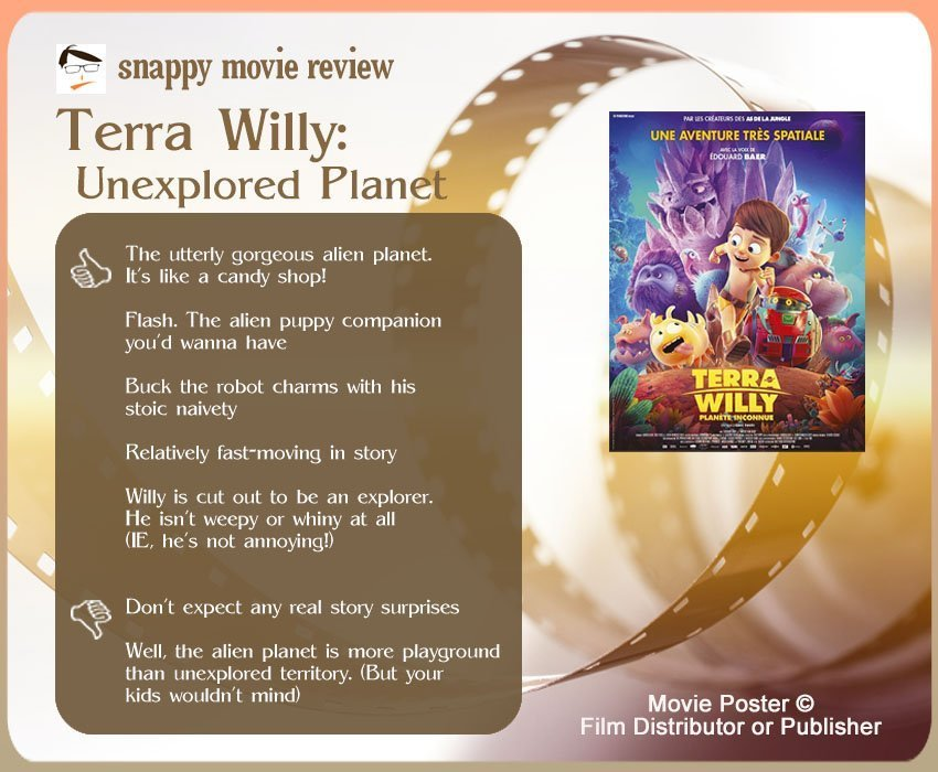 Terra Willy: Unexplored Planet Review: 5 thumbs-up and 2 thumbs-down.