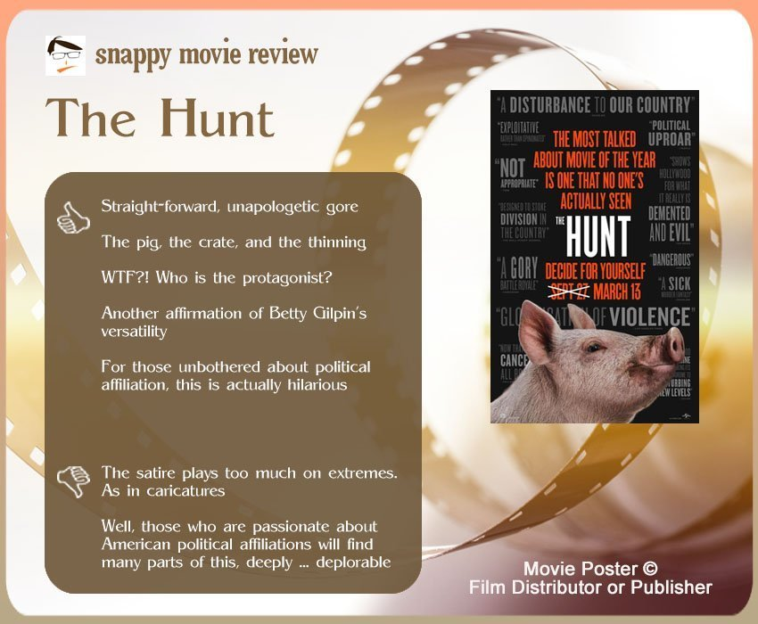 The Hunt Review: 5 thumbs-up and 2 thumbs-down.