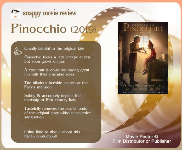 Pinocchio (2019) Review: 6 thumbs-up and 0 thumbs-down.