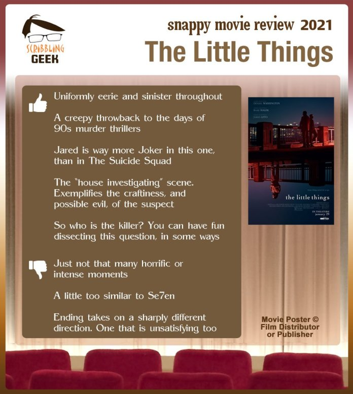 The Little Things Review: 5 thumbs-up and 3 thumbs-down.