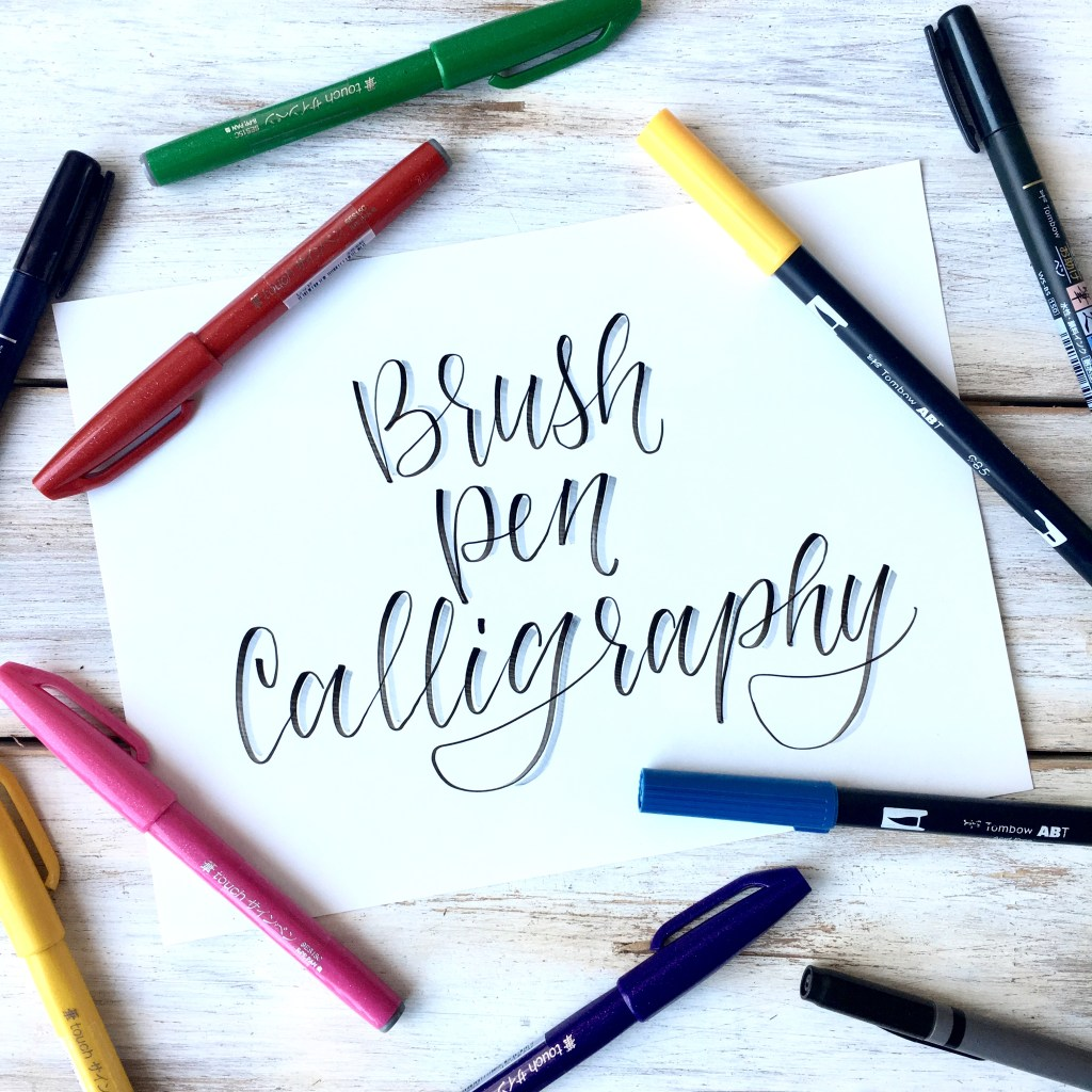 Learn how to do brush pen calligraphy for beginners! Including free brush pen calligraphy practice sheets!