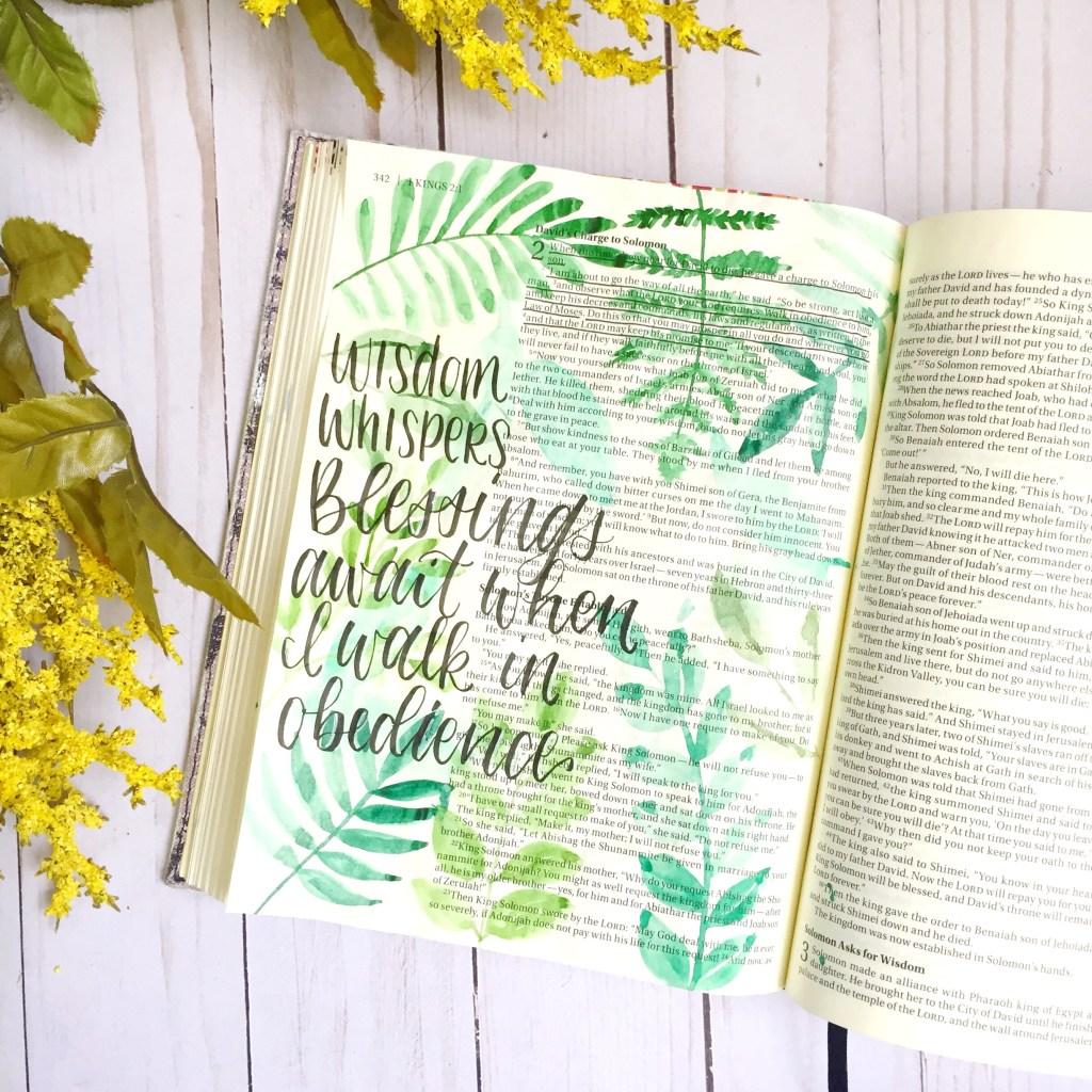 Bible Journaling Watercolor Leaves Tutorial