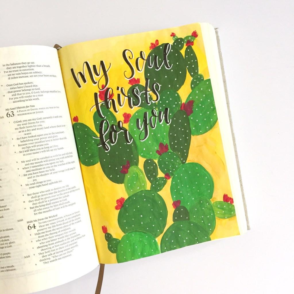 Acrylic Cactus Tutorial Plus A Free Printable Scribbling Grace