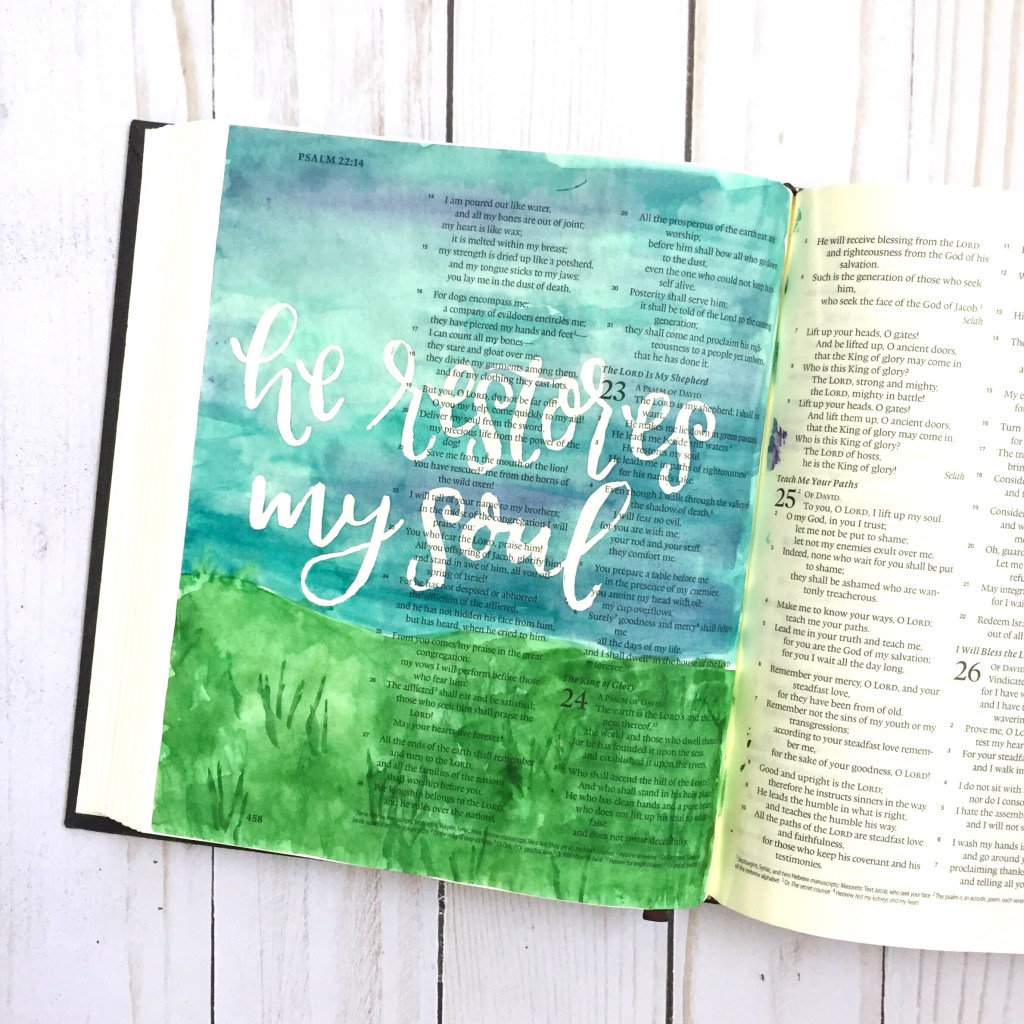 Bible Journaling With Masking Fluid - Scribbling Grace