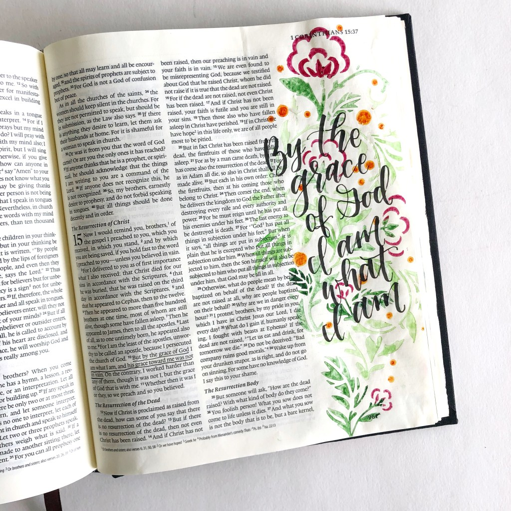 Bible Journaling With Stencils - Scribbling Grace