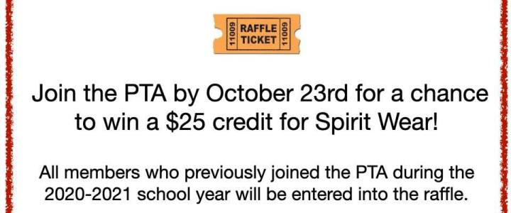 Last chance to win $25 credit for Spirit Wear