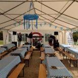 Geschmücktes Zelt