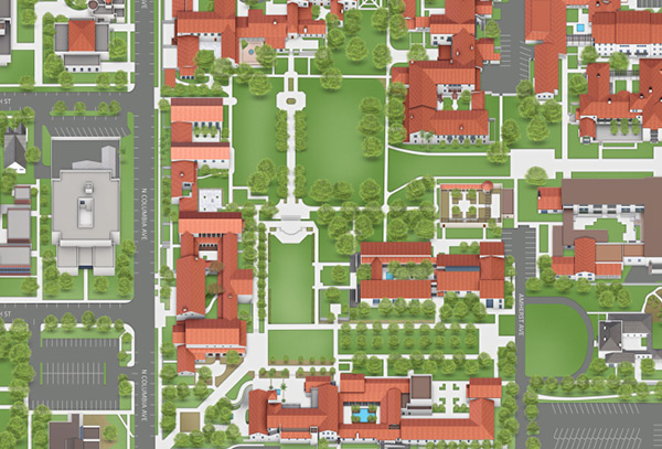 University La Verne Campus Map