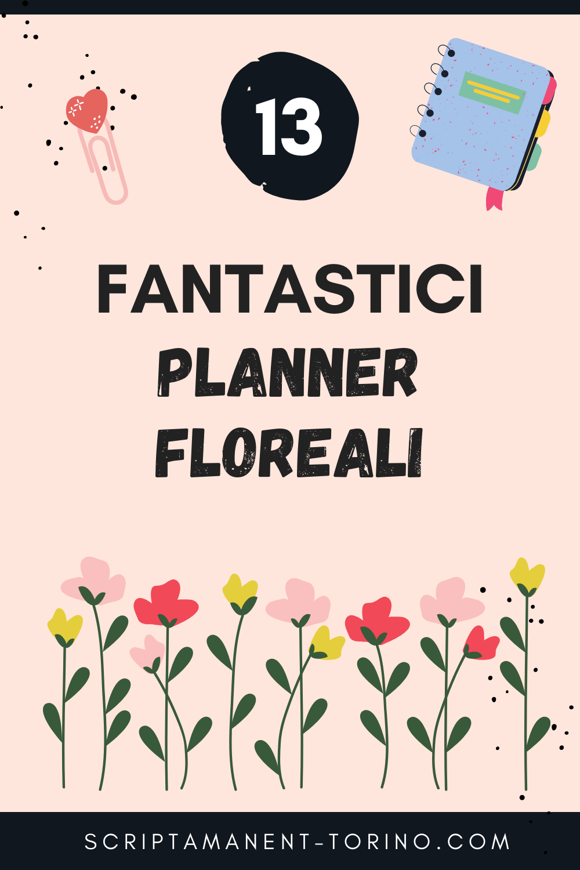 planner floreali primavera