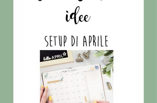 bullet journal aprile 2021 setup