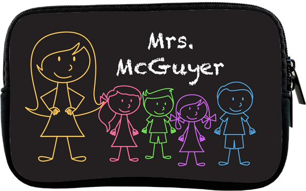 Personalized Chalkboard Kids Pencil Case or Tablet Sleeve