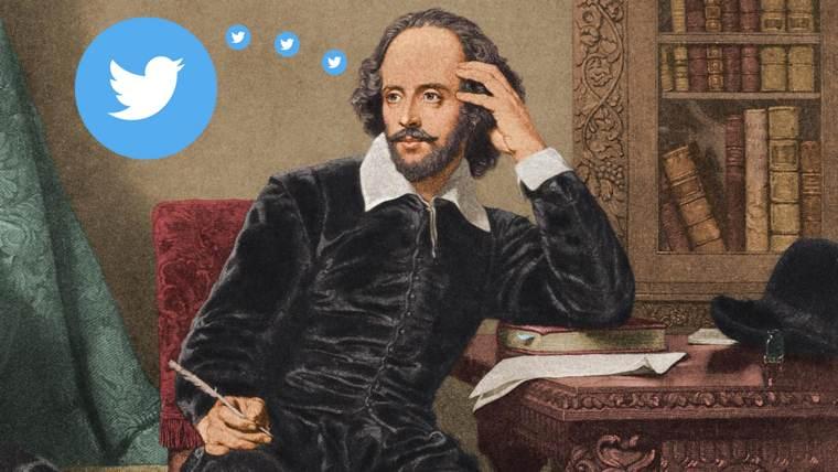 Twitter per scrittori: Shakespeare accanto all'icona del media sociale